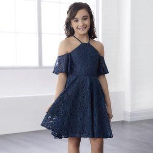 Christina Wu Junior Bridesmaid Lace Overlay Dress